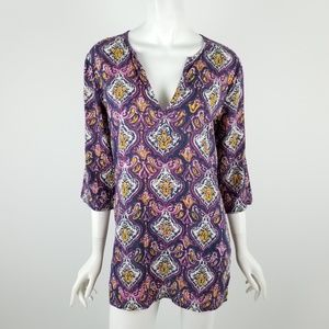J. Crew Factory Printed Tunic Size Small